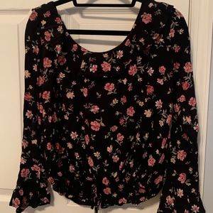 AE Floral Bell Sleeve Top